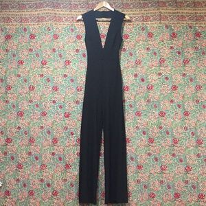 Windsor Backless, Wide-Leg Jumpsuit Black Size M